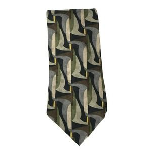 Ashberry Multicolored Abstract Designer Silk Tie